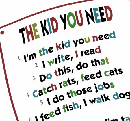 The kid you need - a fun rap activity