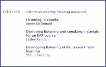 Listening in Chunks - hancockmcdonald.com/talks/listening-chunks