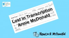 Lost in Transcription - hancockmcdonald.com/talks/lost-transcription