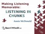 Making Listening Memorable