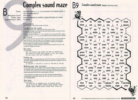 Pronunciation games: Complex Sound Maze