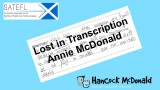 Lost in Transcription - hancockmcdonald.com/node/610/edit
