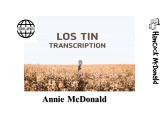 Lost in Transcription - hancockmcdonald.com/node/622/edit