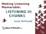 Making Listening Memorable